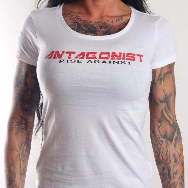 T-Shirt Antagonist weiß Girly