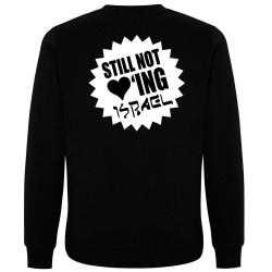 STILL NOT LOVING ISRAEL Pullover schwarz