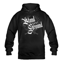 STAND YOUR GROUND Hoody schwarz