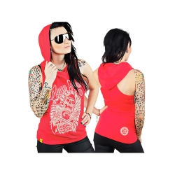 Skull WMN - red rose TS