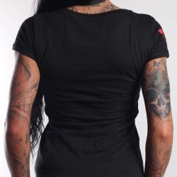 T-Shirt Antagonist schwarz Girly