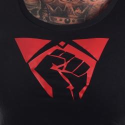 T-Shirt Fist schwarz Girly